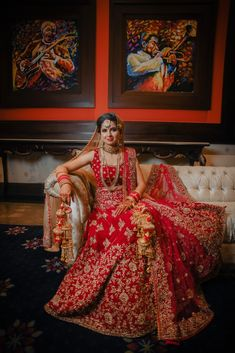Wedding Bridal Lehenga - Love Story Shot - Brides in a Pink and Gold Sequinned Lehenga and Grooms in a Black and Red Suit. Bollywood Lehenga, Red Lehenga, Bridal Lehenga, Black And Red Suit, Indian Bridal Outfits, Red Indian, Wedding Bride, Wedding Dresses, Wedding Preparation