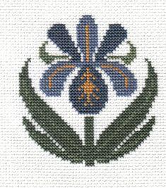 finished completed cross stitch PRAIRIE SCHOOLER garden blooms iris PREORDER