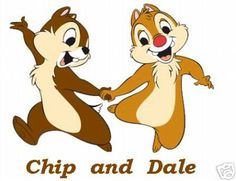 Chip and Dale are two cartoon chipmunks created by the Walt Disney Company.
