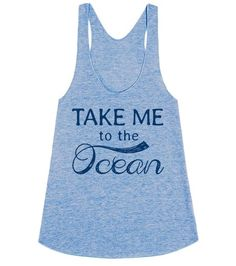 Let everyone know you're all about that beach life with this Take Me To The Ocean shirt! This makes a great shirt to wear over your swimsuit. It's also a great gift for your favorite Ocean loving best friend.