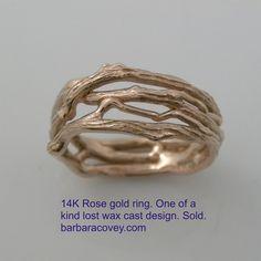 14K rose gold ring,