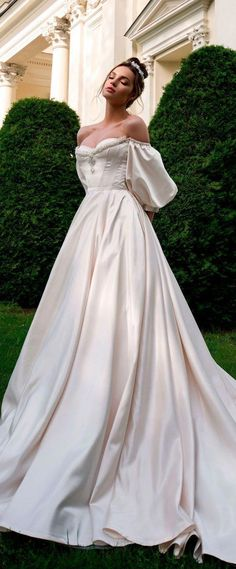 a0627d1ec9 Ball Gown Wedding Dresses Off the Shoulder Chapel Train Bridal Gowns ·  MissZhu Bridal · Online
