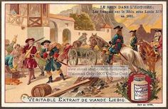 1681 French King Louis XIV In The Rhein c1900 Card