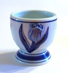 Delft Embossed Tulip Egg Cup