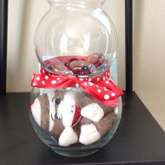 sock monkey themed baby used fish bowls marbles