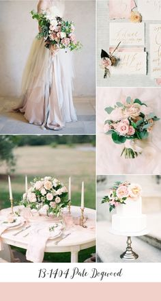 Pale Dogwood Spring Wedding Inspiration Board