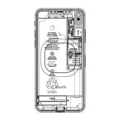 Apple / iPhone X / Blueprint / Graphics / 2017 Apple Iphone, Iphone 8, Industrial Design Furniture, Tumblr, Graphic Design, Instagram, Graphics, Knowledge, Platform