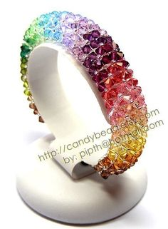 Items similar to Rainbow bracelet;Elegant Colorful Crystal Bracelet - Rainbow Colors on Etsy Bracelet Swarovski, Swarovski Jewelry, Crystal Bracelets, Crystal Jewelry, Swarovski Crystals, Polymer Clay Bracelet, Hand Bracelet, Handmade Beaded Jewelry, Handmade Bracelets