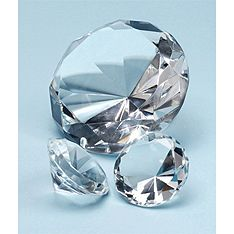Diamond-Cut Crystal Paperweight