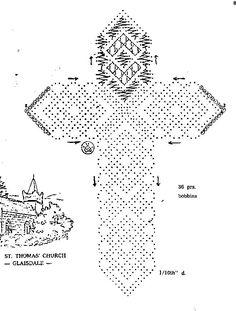 cruz - Maria Lucia Muñoz - Álbumes web de Picasa Bobbin Lace Patterns, Cross Patterns, Stitch Patterns, Crochet Patterns, Bobbin Lacemaking, Types Of Lace, Fillet Crochet, Lace Heart, Lace Jewelry