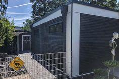 Wohn Modul in 35435 Wettenberg • Russ Modulbau Berg, Wood Facade, Homes