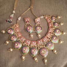 ♥♥ pretty #meenakarijewellery #mortantra