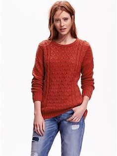 Women's Cocoon Cable-Knit Sweater | Old Navy