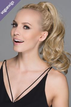 Fun tip! Want a full, curly ponytail in a snap? Throw your hair up and attach the Wine by Ellen Wille for a super easy updo.
