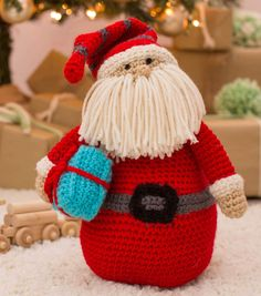 Huggable Santa Pillow. FREE crochet pattern