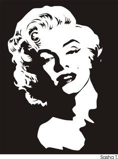 20 Trendy pop art painting black and white marilyn monroe Marilyn Monroe Dibujo, Marilyn Monroe Stencil, Marilyn Monroe Drawing, Marilyn Monroe Painting, Marilyn Monroe Poster, Pop Art Marilyn, White Art, Black And White, Watercolor Art