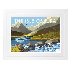 George Oliver Poster Isle of Jura Loch An T Siob von Stephen Millership Frames On Wall, Framed Wall Art, Wall Art Prints, Fine Art Prints, Isle Of Jura, London Skyline, State Art, Travel Posters, Painting Frames