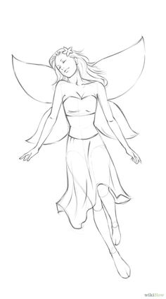 How to Draw a Simple Fairy: 8 Steps (with Pictures) - wikiHow