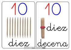 10 decena2 Montessori Math, Montessori Materials, Lego Math, Human Body Unit, Space Activities, Maila, Activity Board, Math Numbers, Math For Kids