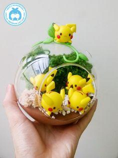 Pikachu in Glass - Nest of Pikachu by Booshandmade on Etsy