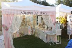 So classy and beautiful! Chateau De Fleurs: A Few Fun And Fabulous booth Presentations From the September 2011 TVM Vendor Displays, Craft Booth Displays, Vendor Booth, Display Ideas, Store Displays, Clothing Booth Display, Boutique Displays, Craft Show Booths, Craft Show Ideas