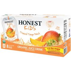 I'm learning all about Honest Kids Tropical Tango Punch Organic Juice Drinks at @Influenster!  #RockTheLunchbox #Contest