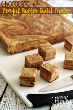 This chocolate peanut butter fudge is so easy to make and incredibly smooth and delicious! Tastes like a Reese's beanut butter cup in fudge form.