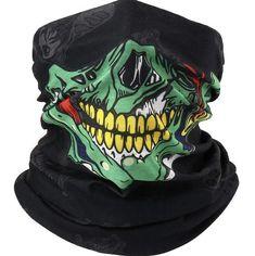Head Bandana, Skull Face Mask, Skull Print, Paintball, Neck Scarves, Skeletons, Cartoon Styles, Unisex, Scarf Styles