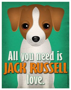 Jack Russell Art Print todo usted necesita es por DogsIncorporated