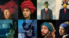 Mashable: Coworkers challenged themselves to recreate classic works of art.