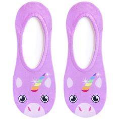 Unicorn Liner Socks ($8.50) ❤ liked on Polyvore featuring intimates, hosiery, socks and unicorn socks
