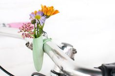 Mint Twisted Handlebar Vase: Planter For Your by wearableplanter