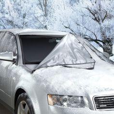 The Quick Removal Windshield Snow Tarp - Hammacher Schlemmer