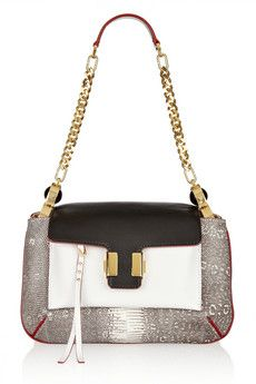 Amelia lizard and leather shoulder bag by Chloe