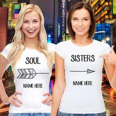 Best Friends Women Shirts Soul Sisters Boho by VivaMake | Etsy