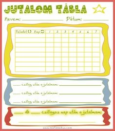 Jutalomtábla - letölthető (jobb egérgomb, mentés) Chores For Kids, Activities For Kids, Behavior Management, Classroom Management, Teaching Displays, Class Dojo, Classroom Rules, School Staff, School Psychology