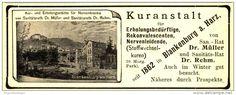 Original-Werbung/ Anzeige 1903 - KURANSTALT BLANKENBURG/ HARZ - ca. 110 x 40 mm