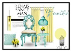 """Soft yellow and blue"" by yyuan11 on Polyvore featuring interior, interiors, interior design, home, home decor, interior decorating, Home Decorators Collection, Xhilaration, Cosimo Vardaro and Nearly Natural"