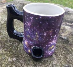 NEW Happy Mugs Wake n bake Pipe Coffee mug Galaxy  IMPERFECT | eBay