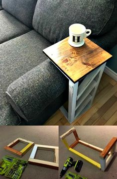 How to Make Sofa Arm Table - 10 Best DIY Sofa Arm Table Ideas - DIY & Crafts