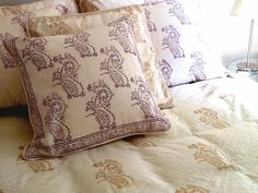 Tilonia® Home: King Duvet Set in Fancy Paisley in Plum