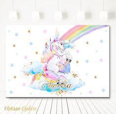 VENTA mágico unicornio cumpleaños telón de fondo Telón de