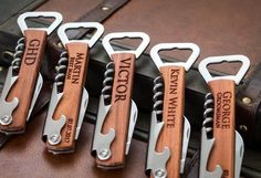 Bottle Opener, Personalized Bottle Opener, Groomsmen Gift, Wedding Gift, Engraved Corkscrew, Custom Bottle Opener, Custom Wine Opener