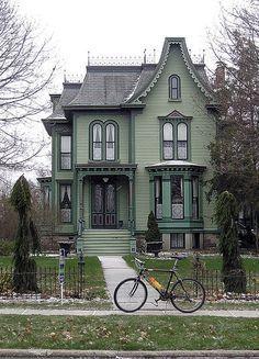 Victorian Houses                                                       … This Old House, Cute House, Logan House, Architecture Résidentielle, Victorian Architecture, Beautiful Architecture, Style At Home, Exterior Paint, Exterior Design