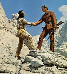 "Picture of Winnetou and Old Shatterhand, from the German ""Winnetou"" Euro Westerns, based on books written by German author Karl May. Description from stuffpoint.com. I searched for this on bing.com/images"
