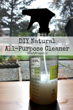 I'm back with another homemade cleaning product!  This time it's the recipe for my natural all-purpose cleaner.  I use this stuff for everything.  The counters, the bathrooms and even the walls! Here's what you need: 2 tsp Borax natural detergent –...