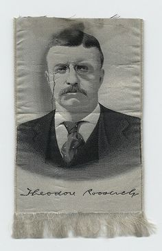 Theodore Roosevelt Silk Portrait Ribbon