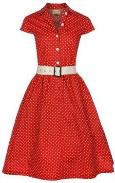 Lindy Bop #Rockabilly #Kleid #50er #Jahre Kathline, rot gepunktetes: