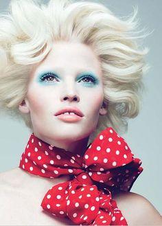 Mert Alas and Marcus Piggott - Photographer  Alex White - Fashion Editor/Stylist  Paul Hanlon - Hair Stylist  Lucia Pieroni - Makeup Artist  Lara Stone - Model