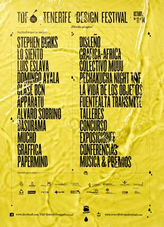 Lo Siento: Tenerife Design Festival
